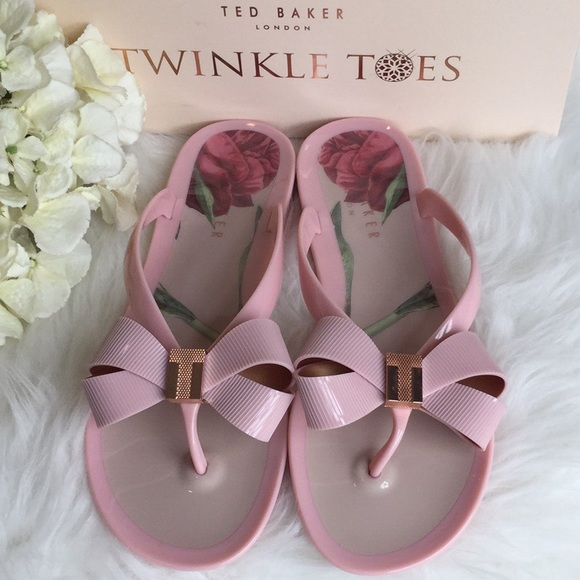 6192664a4f1a Ted Baker Susziep Pink Rose Jelly Sandals NWT